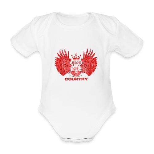 IH KING of the COUNTRY (Red design) - Baby bio-rompertje met korte mouwen
