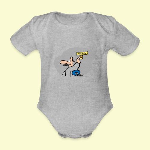 DIRKJAN Lachen - Baby bio-rompertje met korte mouwen