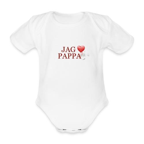 Jag älskar pappa - Ekologisk kortärmad babybody