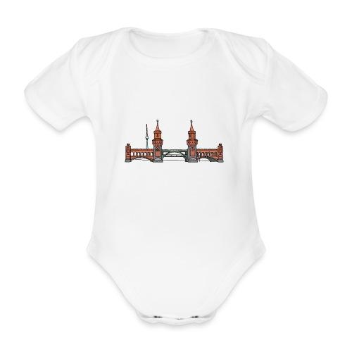 Oberbaumbrücke a BERLINO c - Body ecologico per neonato a manica corta