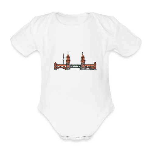 Oberbaumbrücke BERLIN - Baby Bio-Kurzarm-Body