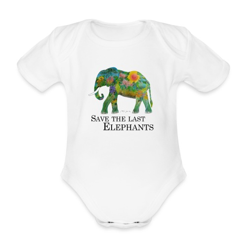 Save The Last Elephants - Baby Bio-Kurzarm-Body