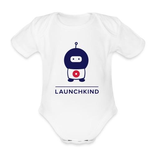 launchkind tshirt - Baby Bio-Kurzarm-Body