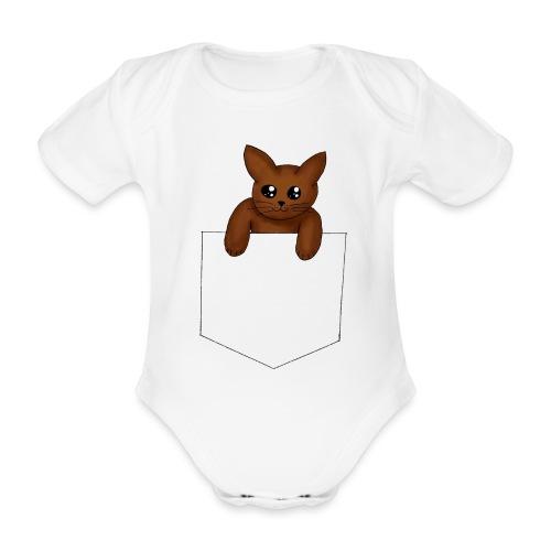 Kat in borstzak | Mannen T-Shirt - Baby bio-rompertje met korte mouwen