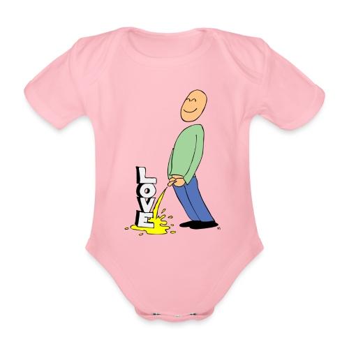 tissekopp farge - Økologisk kortermet baby-body