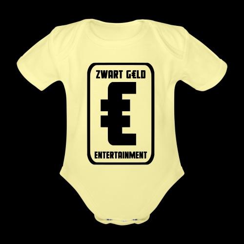 ZwartGeld Logo Sweater - Baby bio-rompertje met korte mouwen