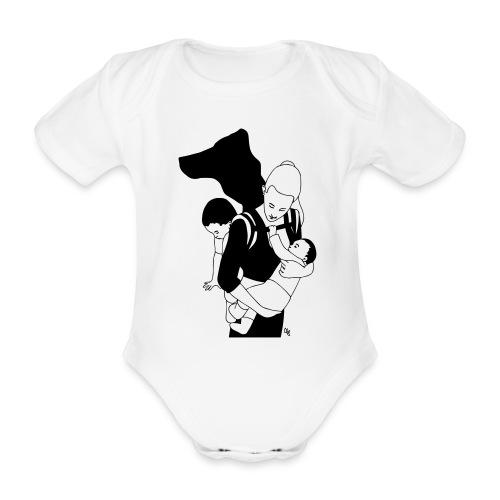 Babycarrying Super Hero Mom 05 - Ekologisk kortärmad babybody