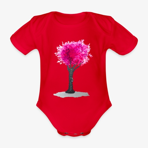 Tree - Organic Short-sleeved Baby Bodysuit