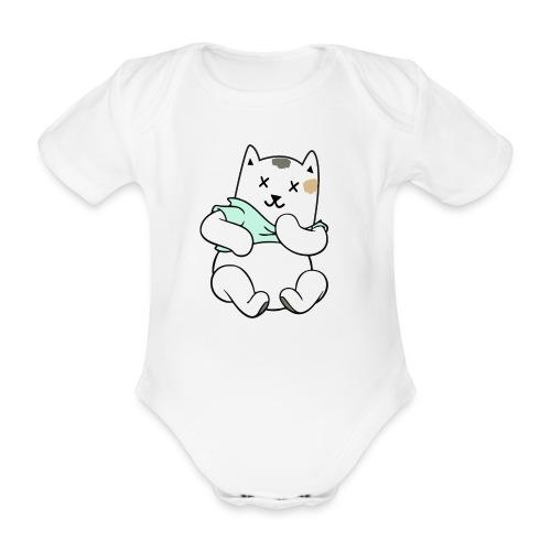 Winnie Groen - Baby bio-rompertje met korte mouwen