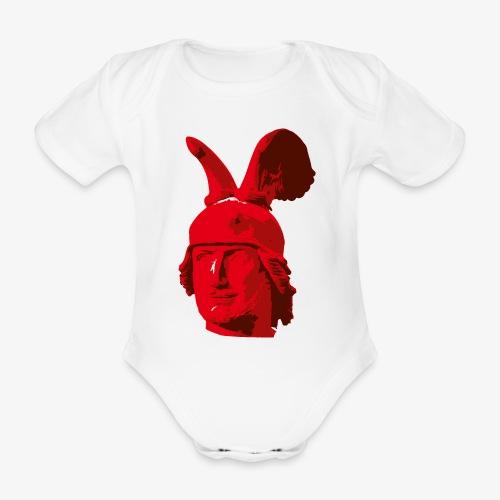 Kopf des Hermannsdenkmals - Baby Bio-Kurzarm-Body