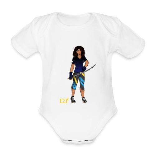 Sabre fencer - Organic Short-sleeved Baby Bodysuit