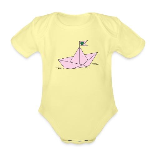 Schiffchen rosa - Baby Bio-Kurzarm-Body