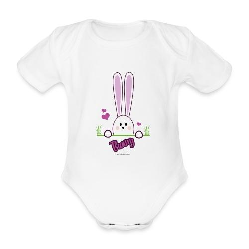süßes Häschen - Baby Bio-Kurzarm-Body