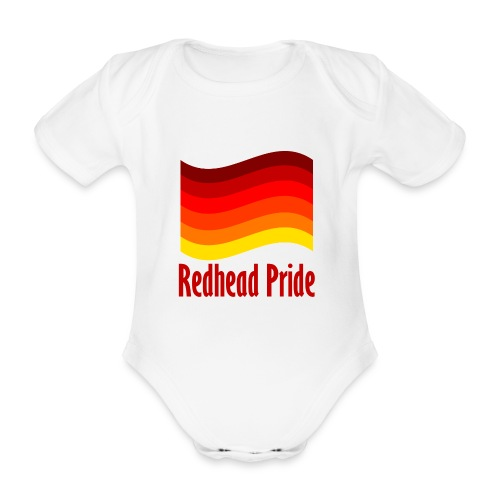 Redhead Pride Red png - Organic Short-sleeved Baby Bodysuit