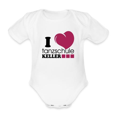I love Tanzschule Keller - Baby Bio-Kurzarm-Body