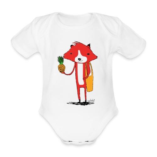 Ananasfüchslein - Baby Bio-Kurzarm-Body