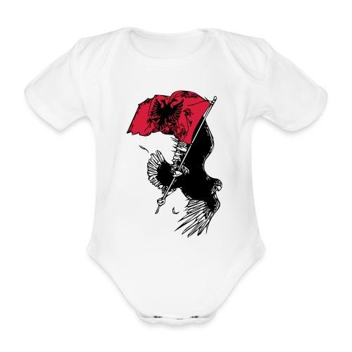 Albanischer Adler - Baby Bio-Kurzarm-Body