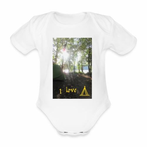 camping - Baby bio-rompertje met korte mouwen