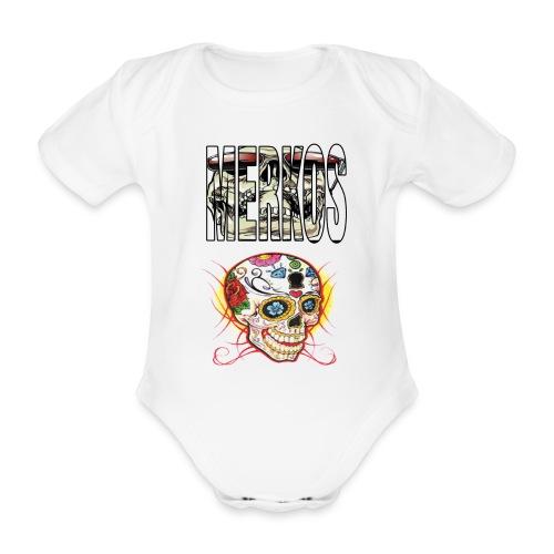 MERKOS CALAVERAS - Body orgánico de manga corta para bebé