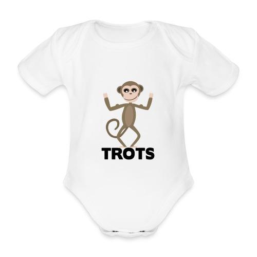 apetrots aapje wat trots is - Baby bio-rompertje met korte mouwen