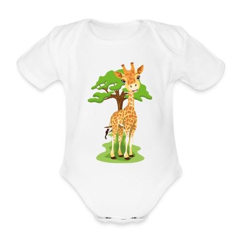 Giraff - Ekologisk kortärmad babybody