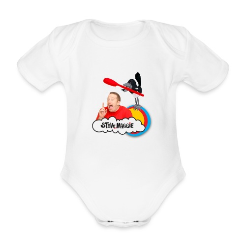 Brush Your Teeth with Steve and Maggie - Organic Short-sleeved Baby Bodysuit