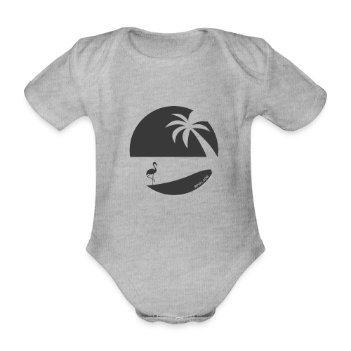 Logo French Floridian noir - Body Bébé bio manches courtes