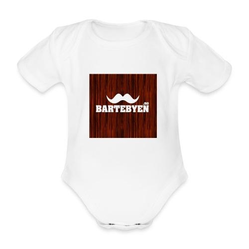 logo bartebyen buttons - Økologisk kortermet baby-body