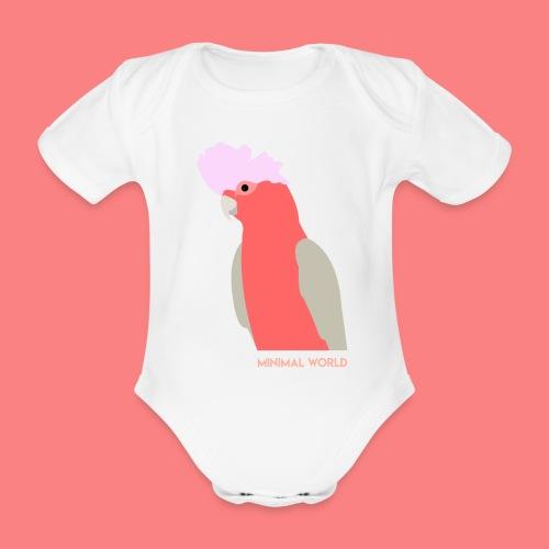 PINK CACATUA - Body ecologico per neonato a manica corta