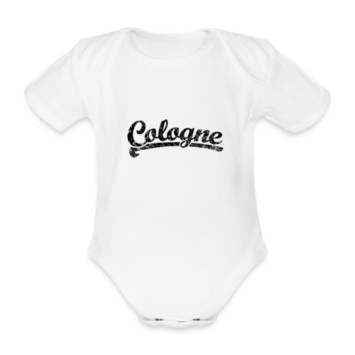 Cologne Classic Vintage Schwarz - Köln Design - Baby Bio-Kurzarm-Body