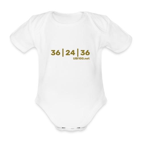 36   24   36 - UBI - Organic Short-sleeved Baby Bodysuit