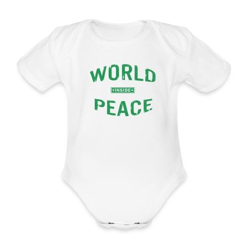 World Peace Green - Baby Bio-Kurzarm-Body