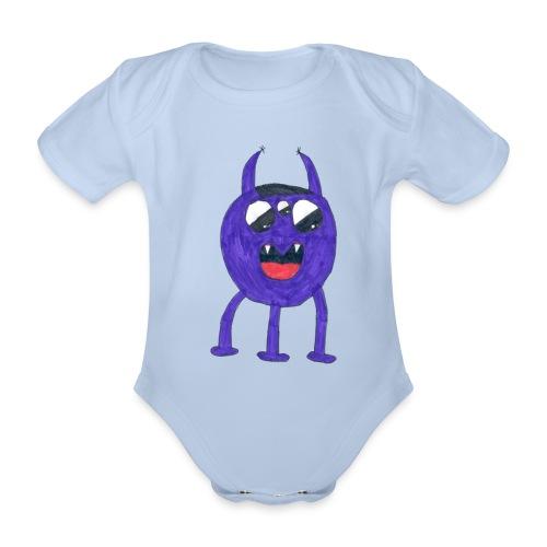 Monster - Ekologisk kortärmad babybody