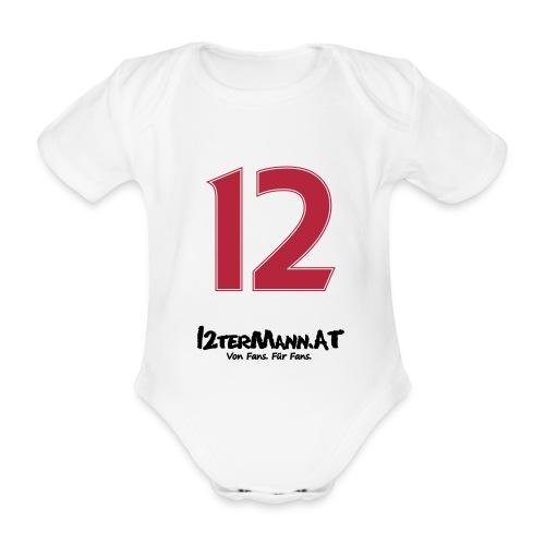12termann mitfans - Baby Bio-Kurzarm-Body
