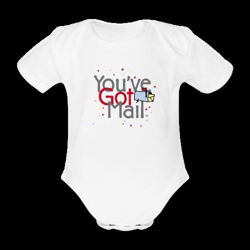 You've Got Mail - Body orgánico de maga corta para bebé