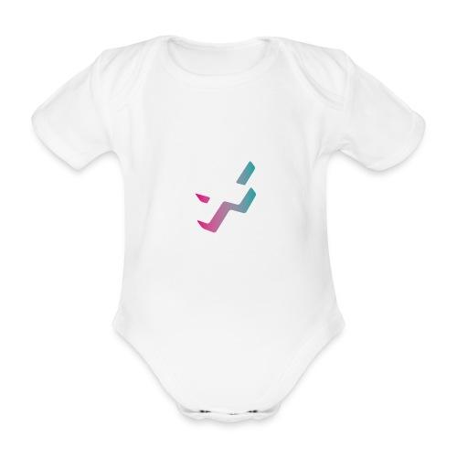 Pixel, Polygone & Plauderei Logo ohne Schriftzug - Baby Bio-Kurzarm-Body