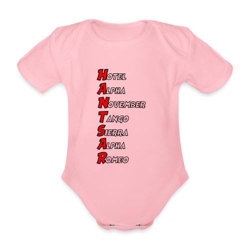 HANTSAR - Phonetic - Organic Short-sleeved Baby Bodysuit