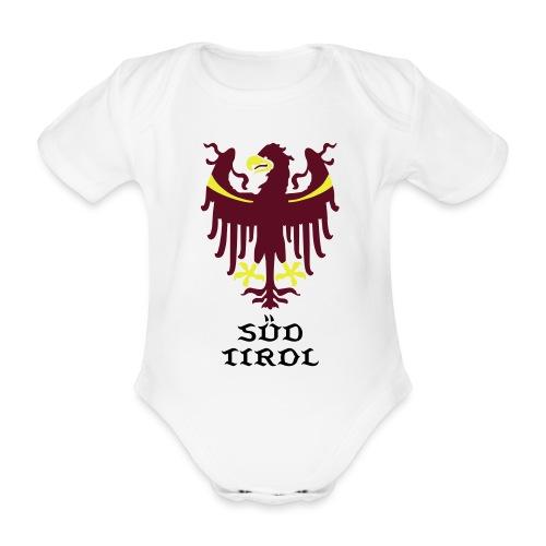 Wappen des Landes Südtirol - Baby Bio-Kurzarm-Body