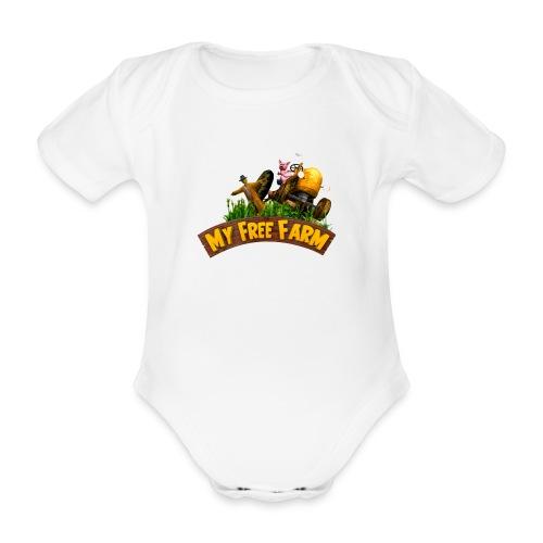 My Free Farm Traktor - Baby Bio-Kurzarm-Body