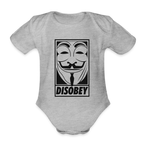 Anonymous disobey - Body Bébé bio manches courtes