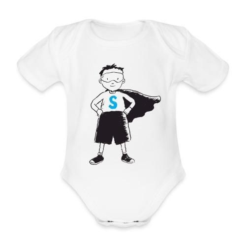 superpojken - Ekologisk kortärmad babybody