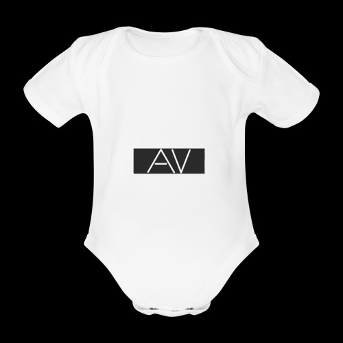 AV White - Organic Short-sleeved Baby Bodysuit