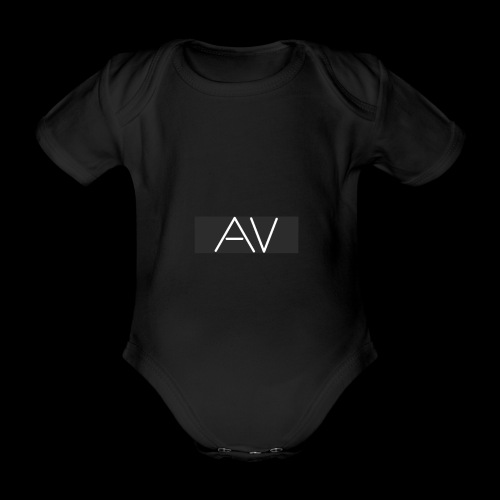 AV White - Organic Short-sleeved Baby Bodysuit