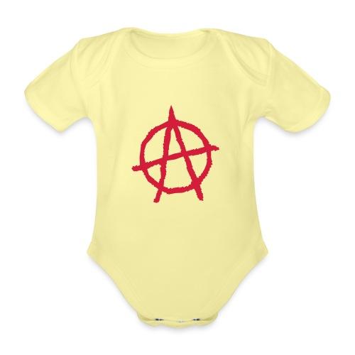 Anarchy Symbol - Organic Short-sleeved Baby Bodysuit