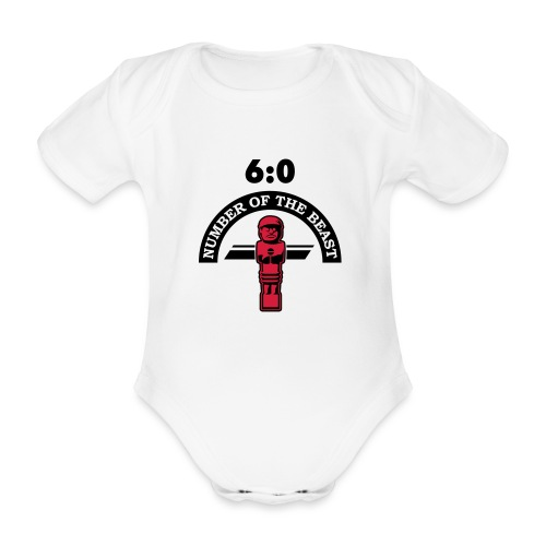 6:0 Number of the beast | KickerShirt - Baby Bio-Kurzarm-Body