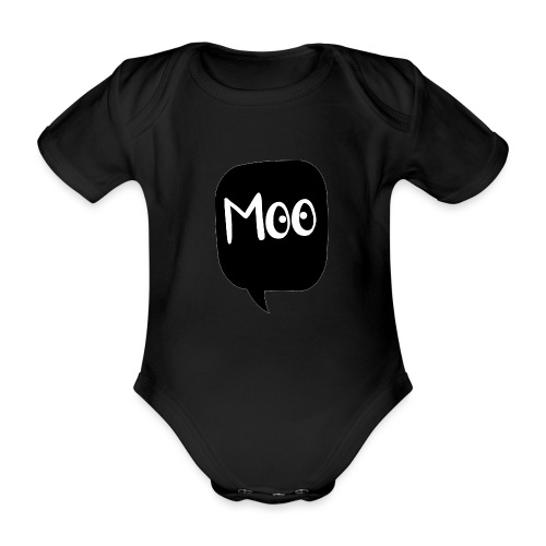 bubble moo white design - Organic Short-sleeved Baby Bodysuit