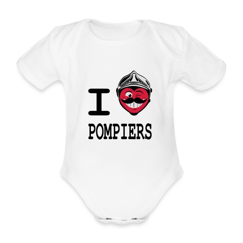 i_love_pompier_4 - Body Bébé bio manches courtes