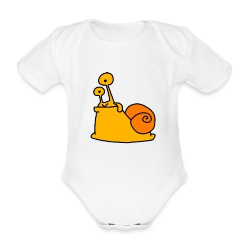 Schnecke Nr 21 von dodocomics - Baby Bio-Kurzarm-Body