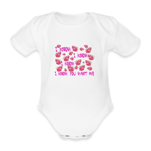 SWINE unisex - Body orgánico de maga corta para bebé