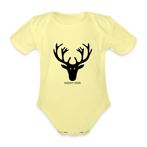 DADDY DEER - Organic Short-sleeved Baby Bodysuit